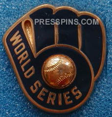 1982 Milwaukee Brewers World Series Press Pin