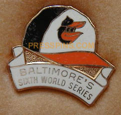 1983 Baltimore Orioles World Series Press Pin