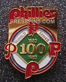 1983 Philadelphia Phillies World Series Press Pin