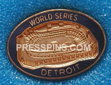 1984 Detroit Tigers World Series Press Pin