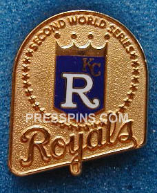 1985 Kansas City Royals World Series Press Pin_MAIN