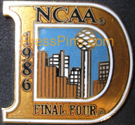 1986 NCAA Final Four Press Pin (Dallas)