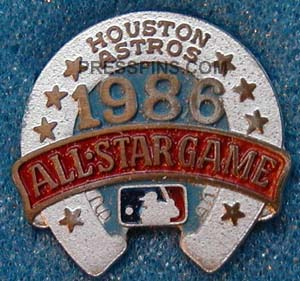 1986 Houston All-Star Press Pin