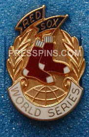 1986 Boston Red Sox World Series Press Pin