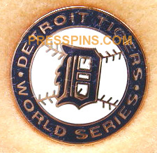 1987 Detroit Tigers World Series Phantom Press Pin