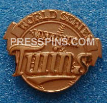 1987 Minnesota Twins World Series Press Pin MAIN
