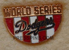 1988 Los Angeles Dodgers World Series Press Pin