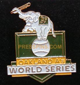 1989 Oakland A's World Series Press Pin MAIN