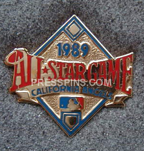 1989 Anaheim All-Star Press Pin