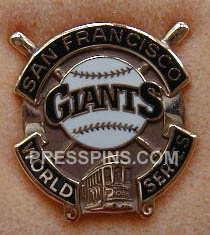 1989 San Francisco Giants World Series Press Pin_MAIN