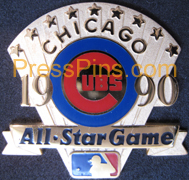 1990 Chicago All-Star Press Pin