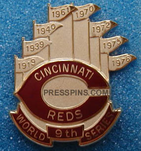 1990 Cincinnati Reds World Series Press Pin MAIN