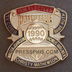 1990 Retroactive Hall of Fame Press Pin
