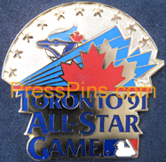 1991 Toronto All-Star Press Pin MAIN