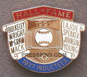 1991 Retroactive Hall of Fame Press Pin MAIN