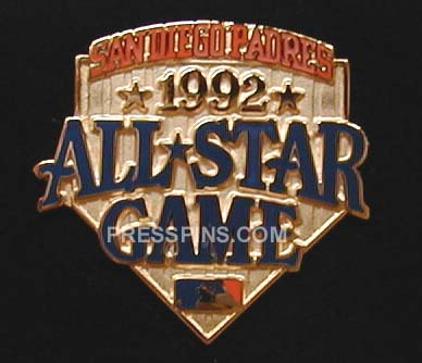 1992 San Diego All-Star Press Pin