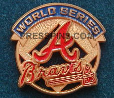 1992 Atlanta Braves World Series Press Pin_MAIN