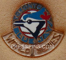 1992 Toronto Blue Jays World Series Press Pin MAIN