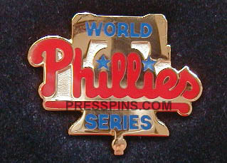 1993 Philadelphia Phillies World Series Press Pin