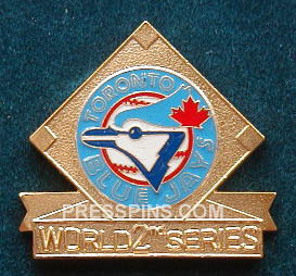 1993 Toronto Blue Jays World Series Press Pin MAIN