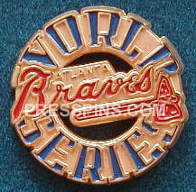 1995 Atlanta Braves World Series Press Pin