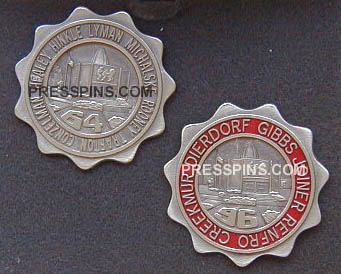 1964/1996 Pro Football Hall of Fame Press Pins