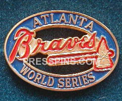 1996 Atlanta Braves World Series Press Pin MAIN