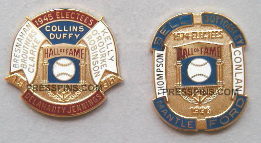 1996 Retroactive Hall of Fame Press Pins MAIN