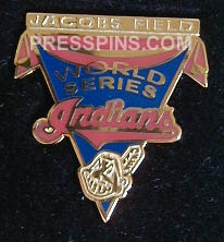 1997 Cleveland Indians World Series Press Pin