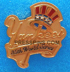 1998 New York Yankees World Series Press Pin MAIN
