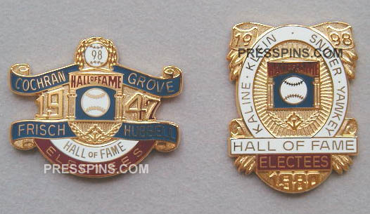 1998 Retroactive Hall of Fame Press Pins MAIN