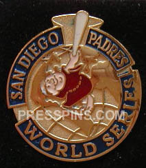 1998 San Diego Padres World Series Press Pin