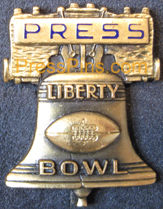 Liberty Bowl Press Pin