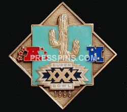 1996 Super Bowl XXX Player Pin MAIN