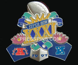 1997 Super Bowl XXXI Player Pin