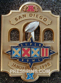 1998 Super Bowl XXXII Player Pin MAIN