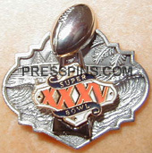 2001 Super Bowl XXXV Press Pin