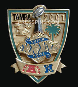 2001 Super Bowl XXXV Player Pin