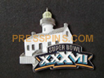 2003 Super Bowl XXXVII Press Pin
