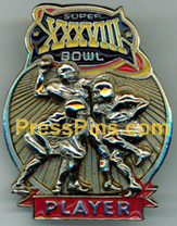 2004 Super Bowl XXXVIII Player Pin