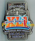 2007 Super Bowl XLI Media Pin