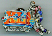 2007 Super Bowl XLI Player Pin