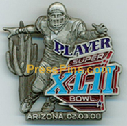2008 Super Bowl XLII Player Pin