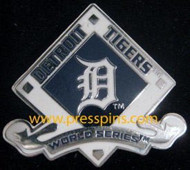 2012 Detroit Tigers World Series Press Pin MAIN