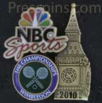 2010 Wimbledon NBC Sports Pin THUMBNAIL