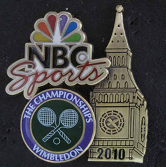 2010 Wimbledon NBC Sports Pin
