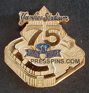 Yankee Stadium 75th anniversary press pin