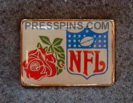 1977 Super Bowl XI Press Pin MAIN