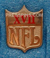 1983 Super Bowl XVII Press Pin
