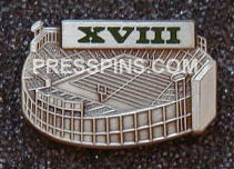 1984 Super Bowl XVIII Press Pin MAIN